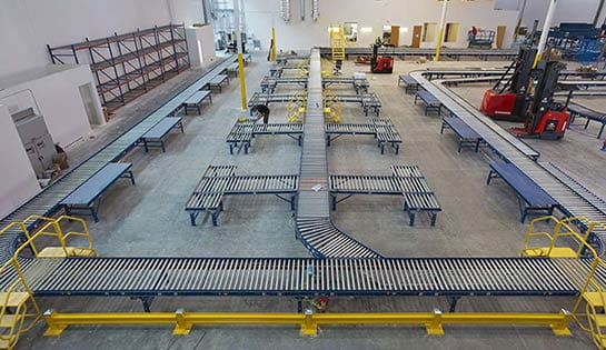 warehouse conveyor system