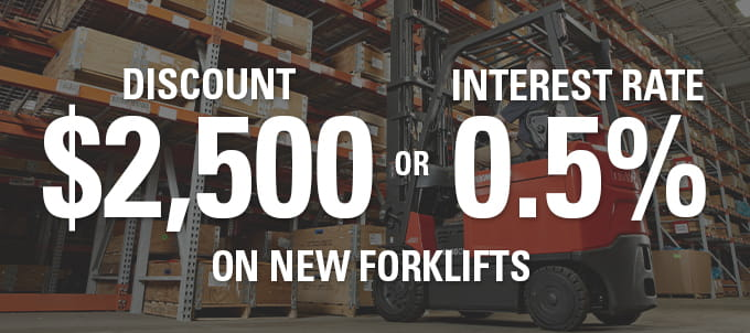 forklift discount, leasing promotion, low interest rate
